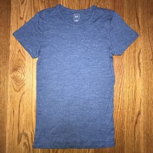 GAP Modern Tee Shirt Blue Heather Size Large